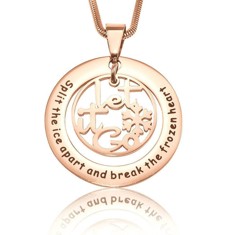 Break The Frozen Heart Necklace-Rose Gold- BELLE FEVER Personalised Jewellery