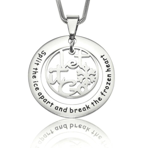 Break The Frozen Heart Necklace-Silver- BELLE FEVER Personalised Jewellery