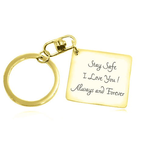 Calendar Handwriting Keyring-Gold- BELLE FEVER Personalised Jewellery