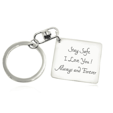 Calendar Handwriting Keyring-Silver- BELLE FEVER Personalised Jewellery