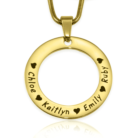 Circle of Trust Necklace-Gold- BELLE FEVER Personalised Jewellery