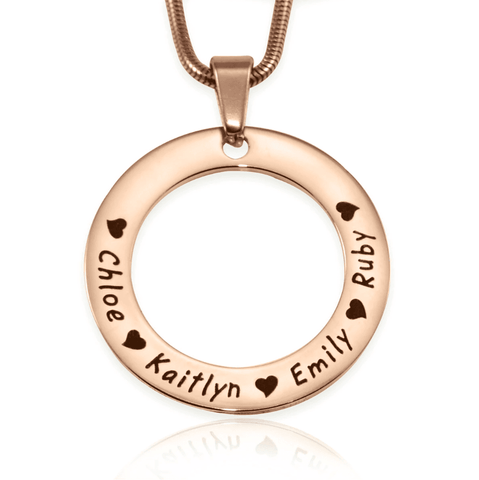 Circle of Trust Necklace-Rose Gold- BELLE FEVER Personalised Jewellery