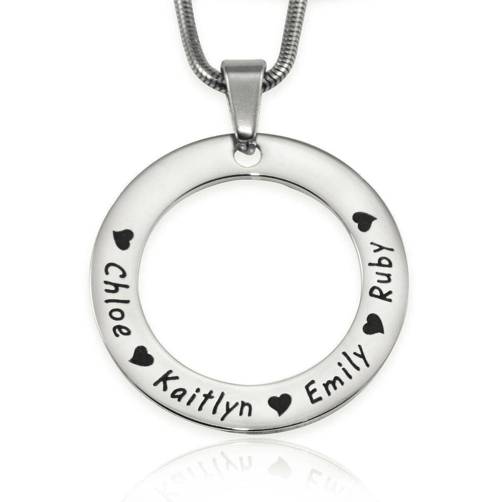 Circle of Trust Necklace-Silver- BELLE FEVER Personalised Jewellery