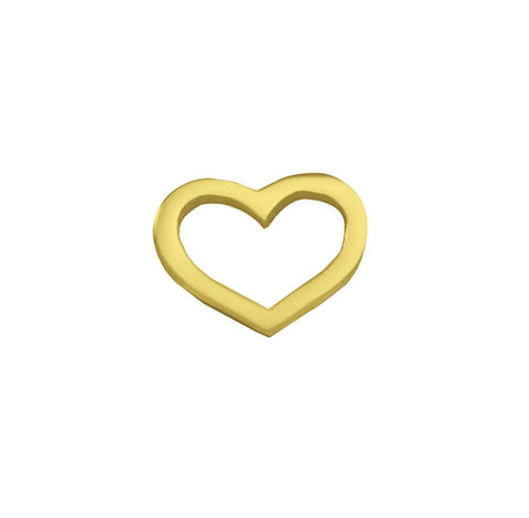 Cut Out Heart Charm for Dream Locket-Gold- BELLE FEVER Personalised Jewellery