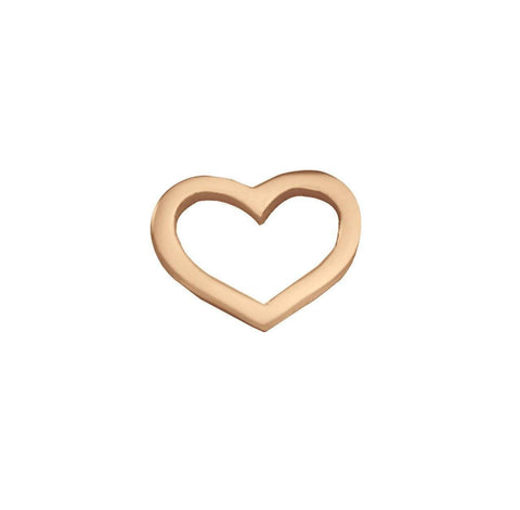 Cut Out Heart Charm for Dream Locket-Rose Gold- BELLE FEVER Personalised Jewellery