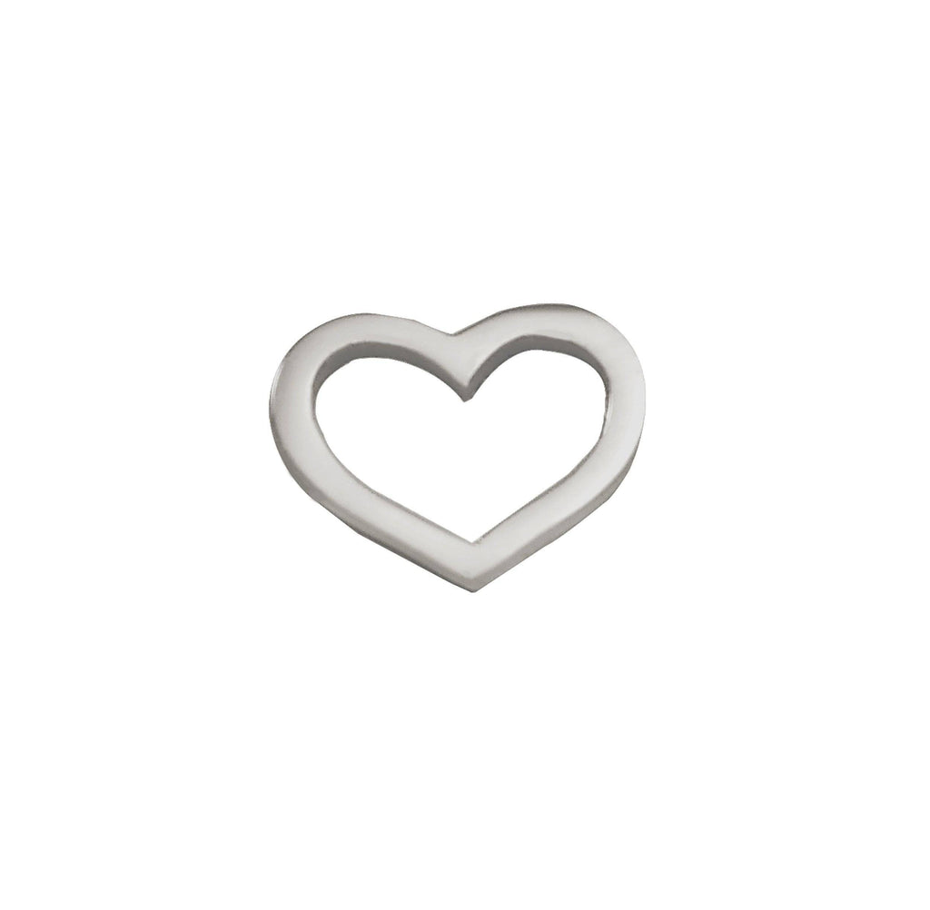 Cut Out Heart Charm for Dream Locket-Silver- BELLE FEVER Personalised Jewellery