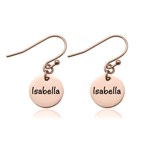 Disc Earrings-Rose Gold- BELLE FEVER Personalised Jewellery