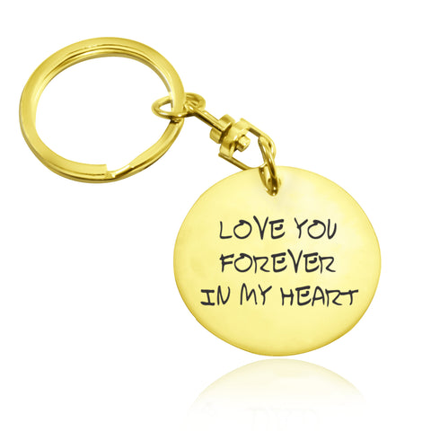 Disc Handwriting Keyring-Gold- BELLE FEVER Personalised Jewellery