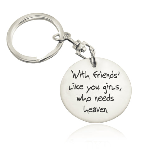 Disc Handwriting Keyring-Silver- BELLE FEVER Personalised Jewellery