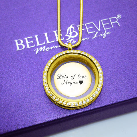 Disc Insert Handwriting for Dream Locket-21mm Medium-Silver- BELLE FEVER Personalised Jewellery