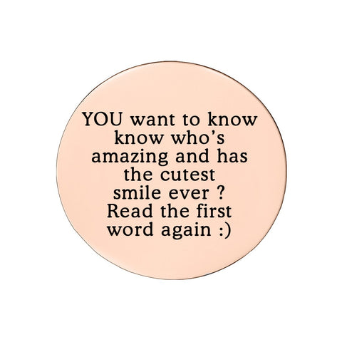 Disc Insert With Inscription for Dream Locket-21mm Medium-Rose Gold- BELLE FEVER Personalised Jewellery