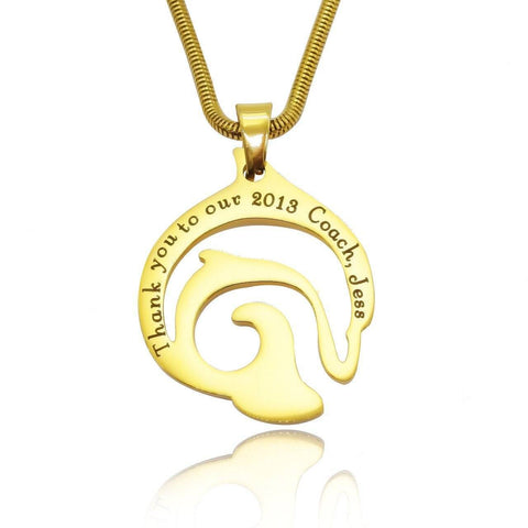 Dolphin Necklace-Gold- BELLE FEVER Personalised Jewellery