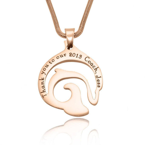 Dolphin Necklace-Rose Gold- BELLE FEVER Personalised Jewellery