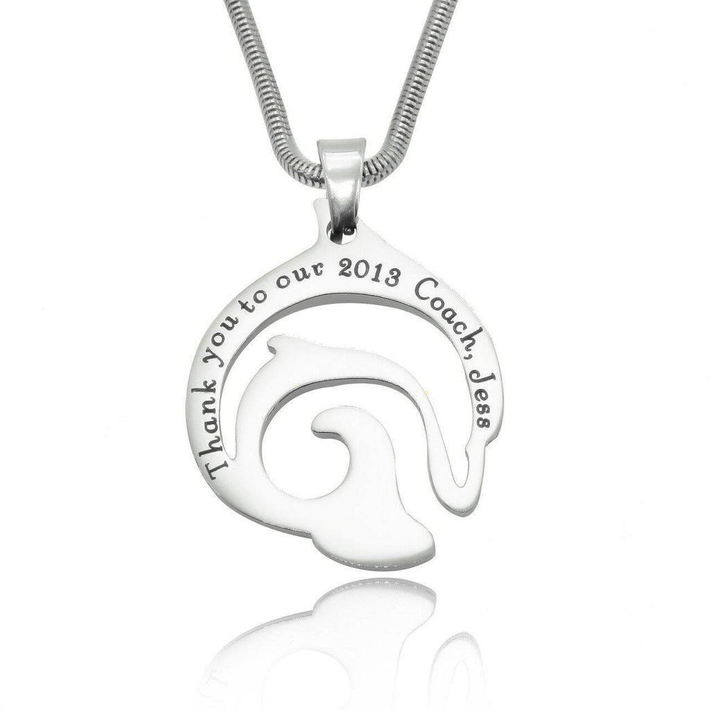 Dolphin Necklace-Silver- BELLE FEVER Personalised Jewellery