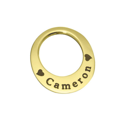 Eternal Charm Personalised for 30mm or 35mm Dream Locket-Gold- BELLE FEVER Personalised Jewellery
