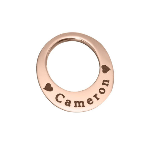 Eternal Charm Personalised for 30mm or 35mm Dream Locket-Rose Gold- BELLE FEVER Personalised Jewellery