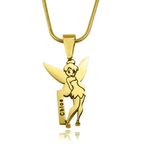 Fairy Name Necklace-Gold- BELLE FEVER Personalised Jewellery
