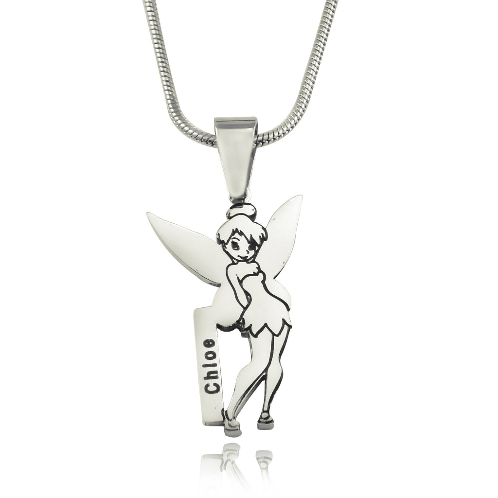 Fairy Name Necklace-Silver- BELLE FEVER Personalised Jewellery