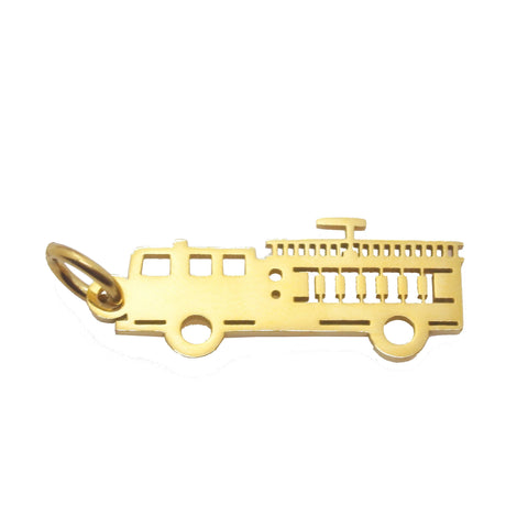 Fire Truck Charm for Keyring-Gold- BELLE FEVER Personalised Jewellery