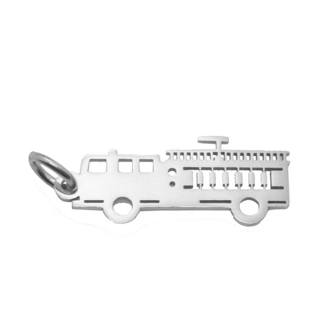 Fire Truck Charm for Keyring-Silver- BELLE FEVER Personalised Jewellery