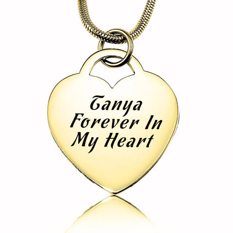 Forever in My Heart Necklace-Gold- BELLE FEVER Personalised Jewellery