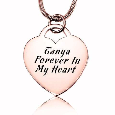 Forever in My Heart Necklace-Rose Gold- BELLE FEVER Personalised Jewellery