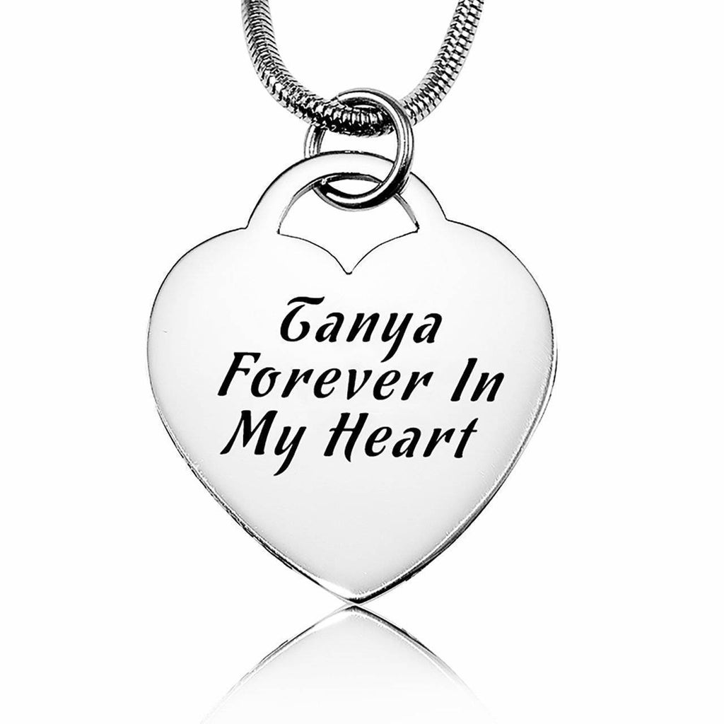 Forever in My Heart Necklace-Silver- BELLE FEVER Personalised Jewellery