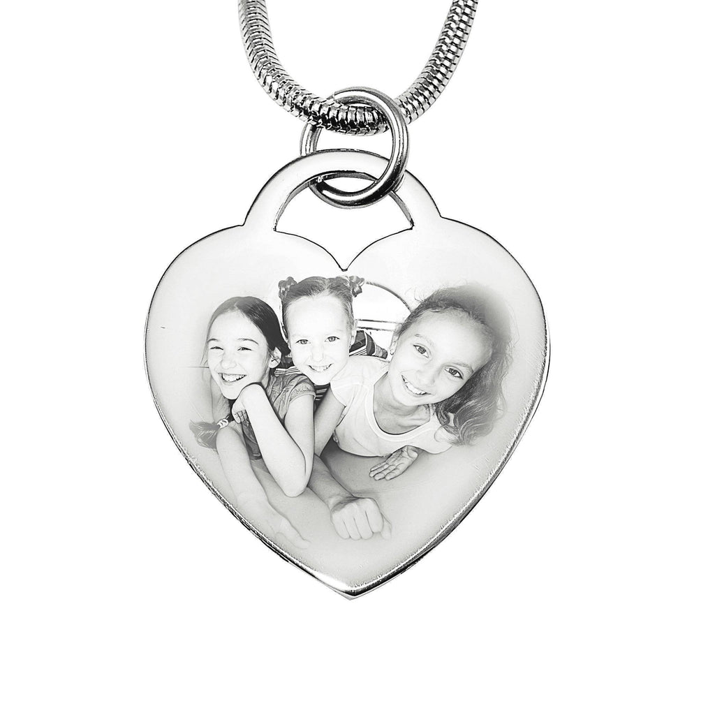 Forever in My Heart Photo Necklace-Silver- BELLE FEVER Personalised Jewellery