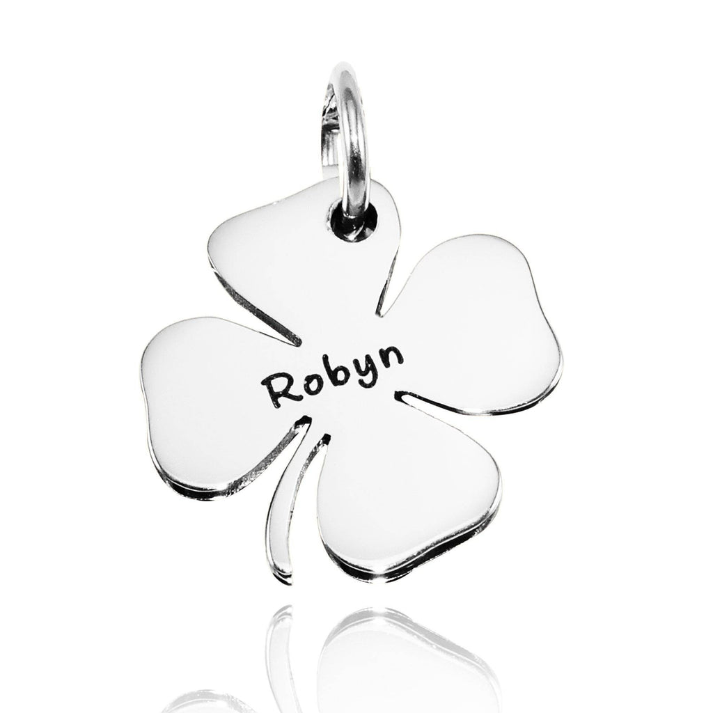 Four Leaf Clover Charm for Keyring-Silver- BELLE FEVER Personalised Jewellery
