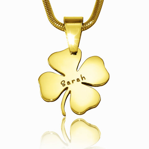 Four Leaf Clover Necklace-Gold- BELLE FEVER Personalised Jewellery