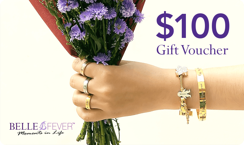 Gift Card + FREE Infinity Bracelet-$100 AUD- BELLE FEVER Personalised Jewellery