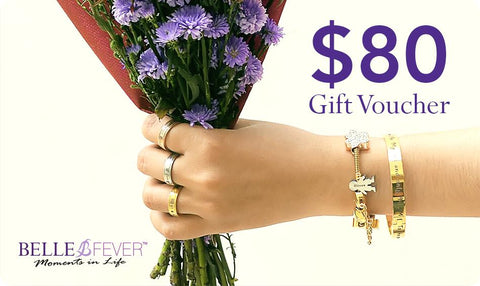 Gift Card + FREE Infinity Bracelet-$80 AUD- BELLE FEVER Personalised Jewellery