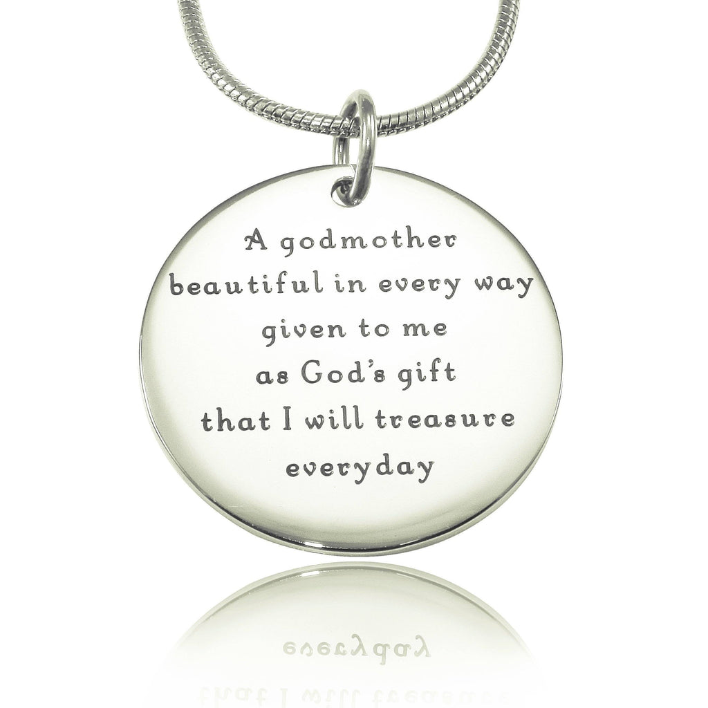 Godmother Necklace-Silver- BELLE FEVER Personalised Jewellery
