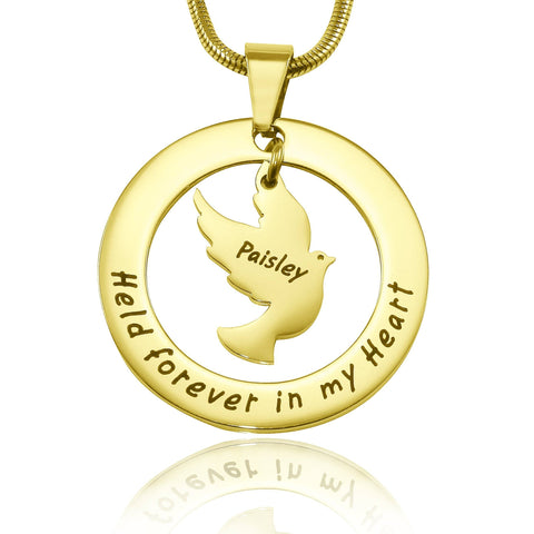 Held Forever Necklace-Gold- BELLE FEVER Personalised Jewellery