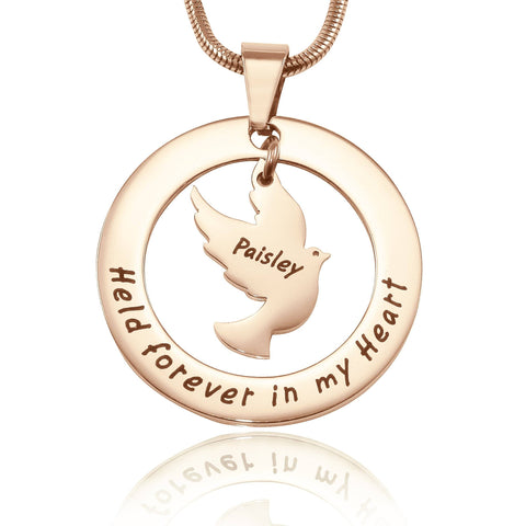 Held Forever Necklace-Rose Gold- BELLE FEVER Personalised Jewellery
