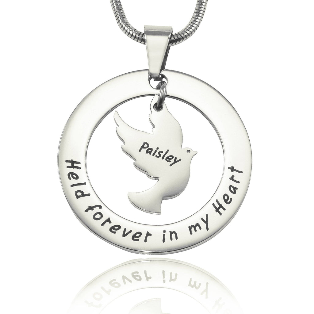 Held Forever Necklace-Silver- BELLE FEVER Personalised Jewellery