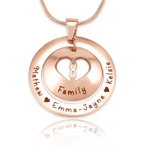 Infinity Dome Necklace-Rose Gold- BELLE FEVER Personalised Jewellery