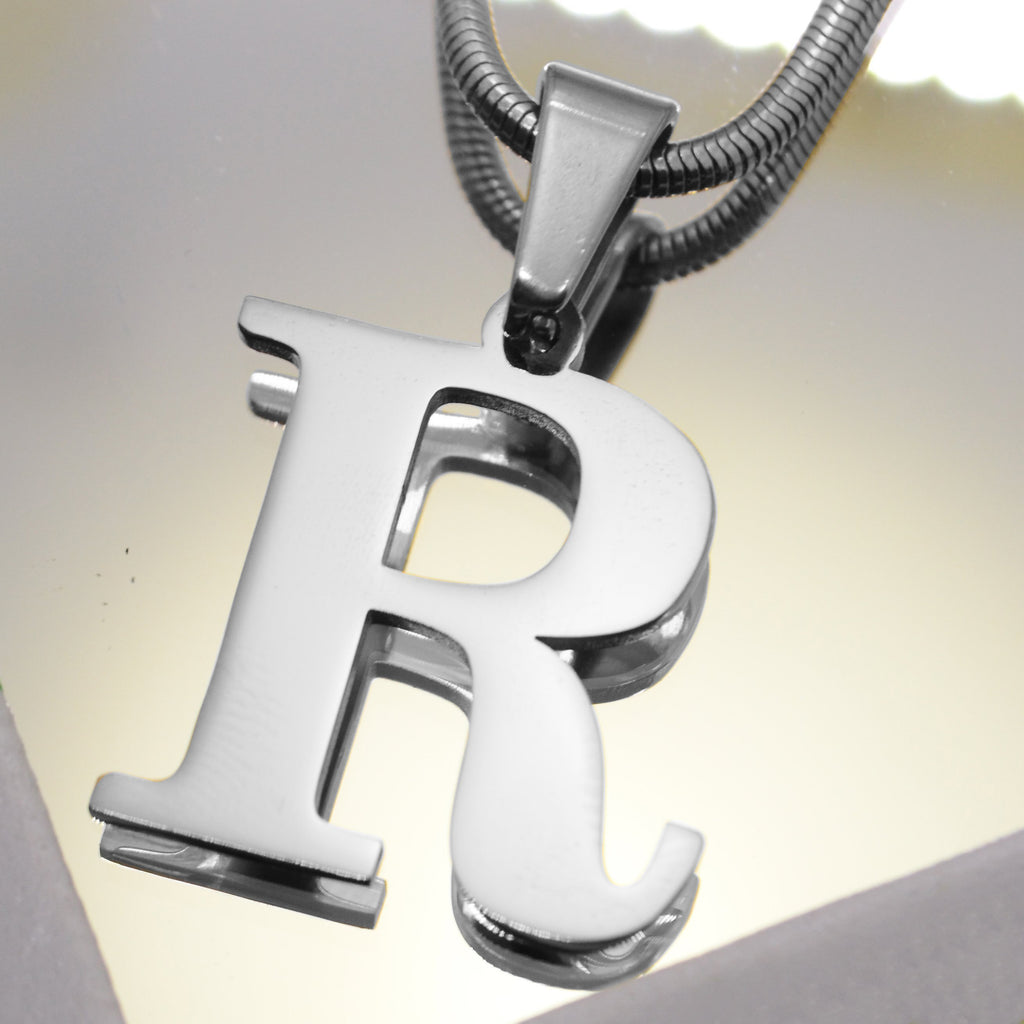 Initial Necklace - Silver - Belle Fever Personalised Jewellery 2