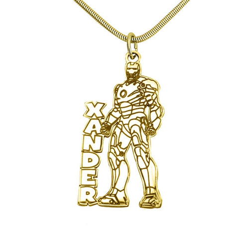 Ironman Name Necklace-Gold- BELLE FEVER Personalised Jewellery