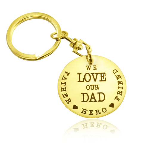 Keyring Single Disc-Gold- BELLE FEVER Personalised Jewellery