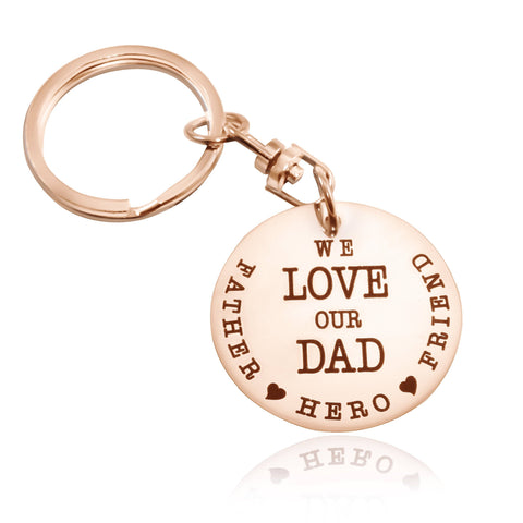 Keyring Single Disc-Rose Gold- BELLE FEVER Personalised Jewellery