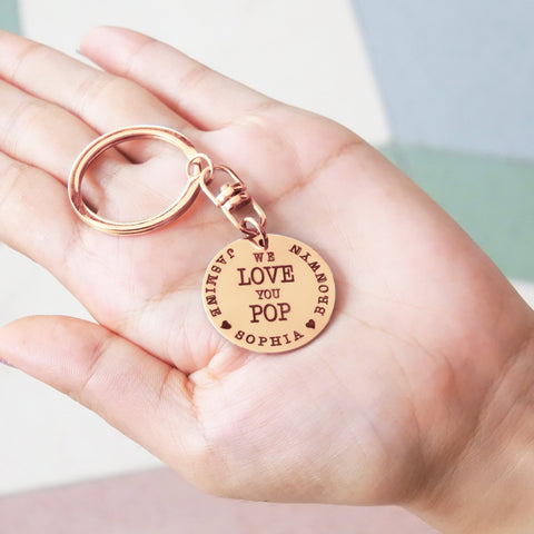 Keyring Single Disc-Silver- BELLE FEVER Personalised Jewellery