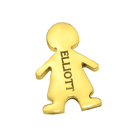 Kids Charm for Dream Locket-Boy-Gold- BELLE FEVER Personalised Jewellery