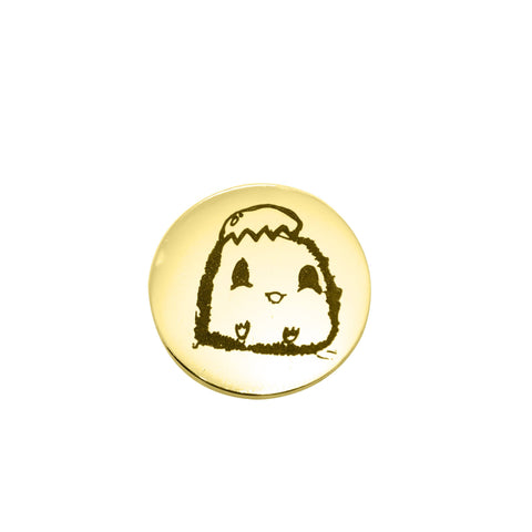 Kids Drawing Charm for Dream Locket-Medium 21mm-Gold- BELLE FEVER Personalised Jewellery