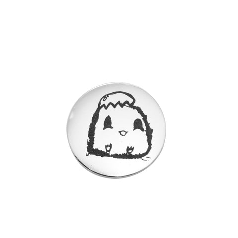 Kids Drawing Charm for Dream Locket-Medium 21mm-Silver- BELLE FEVER Personalised Jewellery