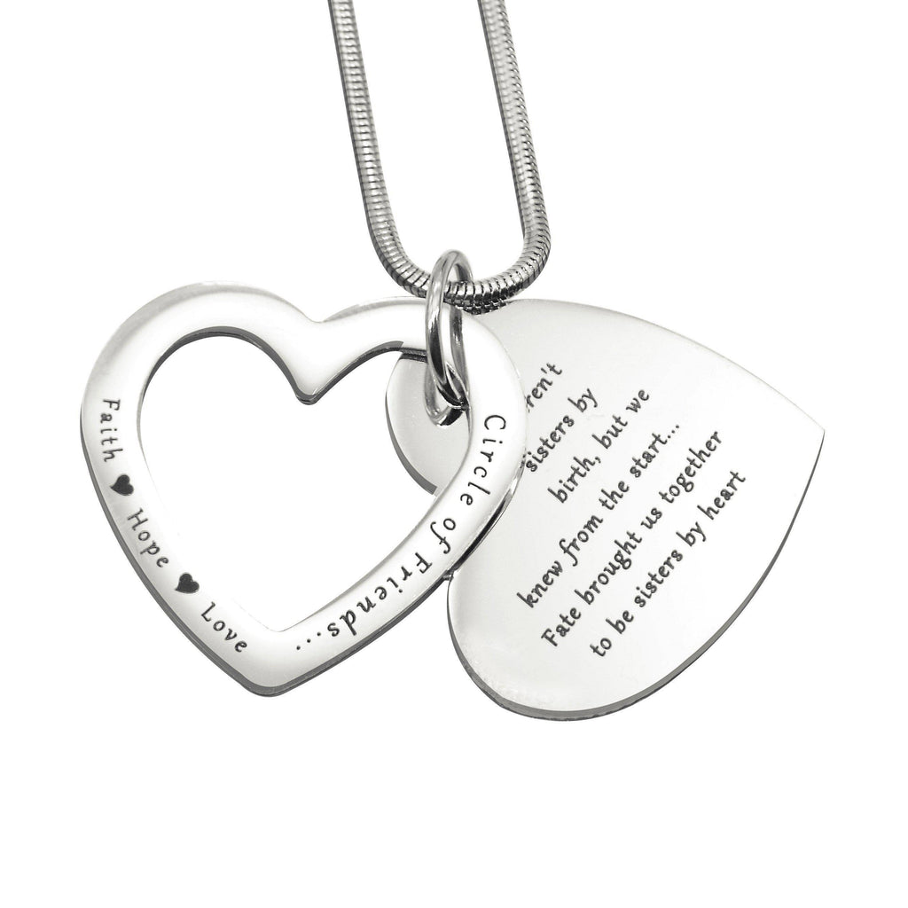 Love Forever Necklace-Silver- BELLE FEVER Personalised Jewellery