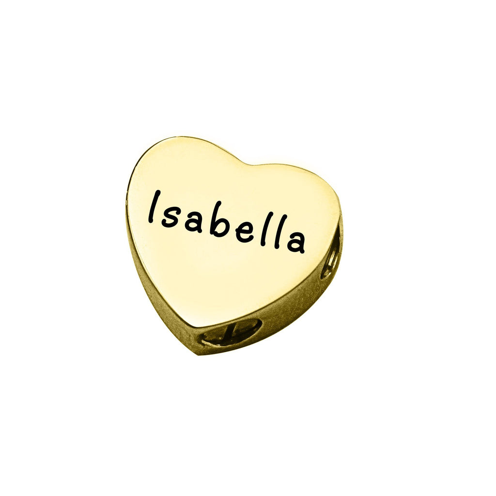 Love Heart Canister Charm For Moments Bracelet-Gold- BELLE FEVER Personalised Jewellery