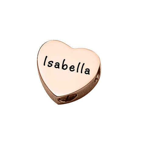 Love Heart Canister Charm For Moments Bracelet-Rose Gold- BELLE FEVER Personalised Jewellery
