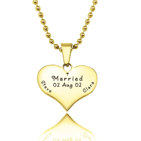 Love of My Life Necklace-Gold- BELLE FEVER Personalised Jewellery