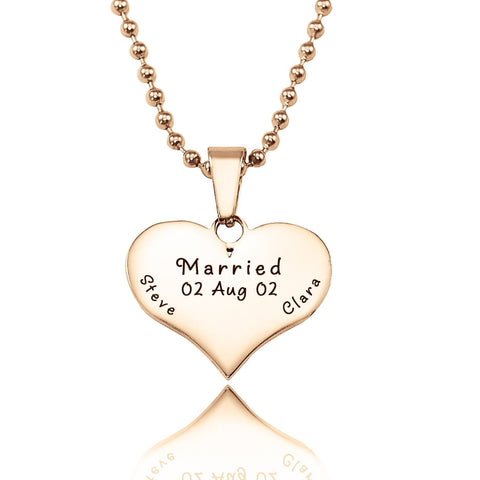 Love of My Life Necklace-Rose Gold- BELLE FEVER Personalised Jewellery
